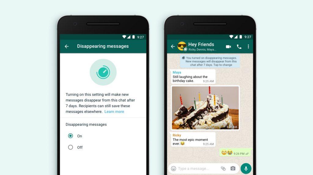 mensajes temporales de whatsapp entre las novedades de noviembre en las redes sociales