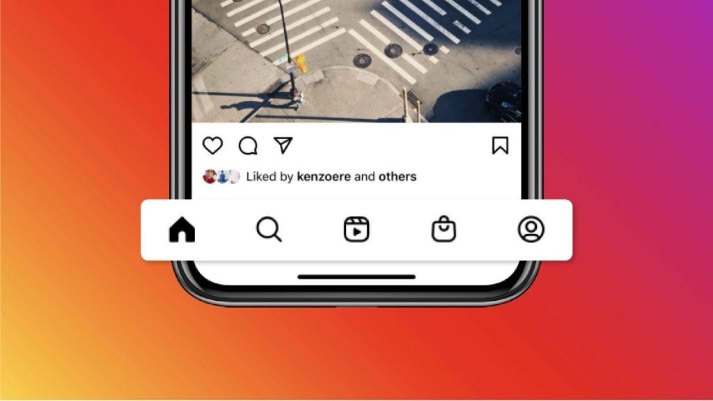 nuevo diseño de instagram, con reels y tienda