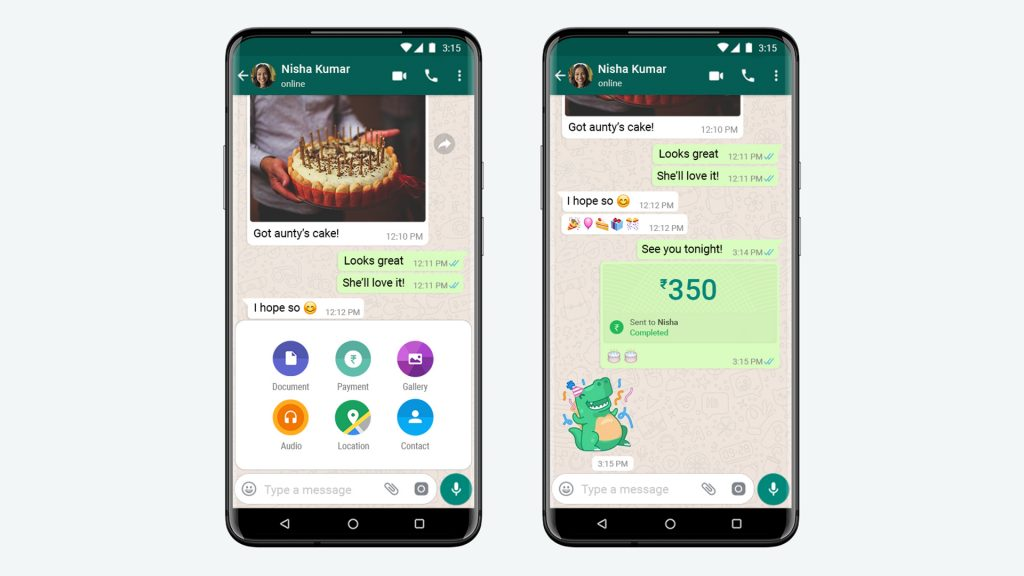 nueva funcion de pagar mediante whatsapp