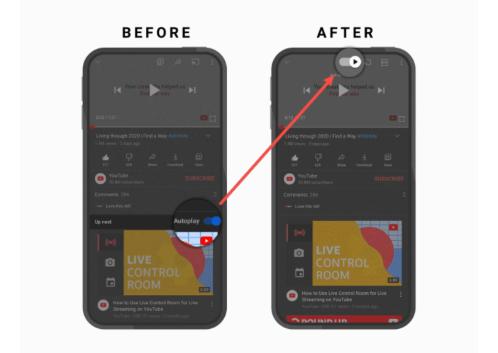 cambios en la app de youtube octubre